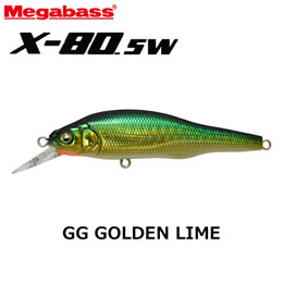 MEGABASS(メガバス) X-80SW 12 GG GOLDEN-LIME