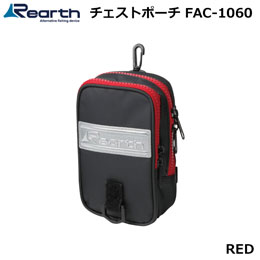 Rearth(リアス) FAC-1060 リアス チェストポーチ BLK/RED